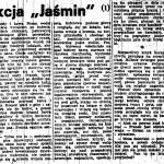"""Wołowski Jacek - Akcja """"Jaśmin"""""""