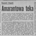 Stępek Ryszard - Amarantowa teka