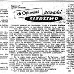 Zeydler-Zborowski Zygmunt - Dr Orłowski prowadzi śledztwo