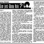 Ziemski Krystyn - Kim jest Anna Kok?