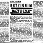 """Litan Jan - Kryptonim """"Bazyliszek"""""""
