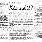 Kamieński Teofil, Bartoń Jerzy - Kto zabił?