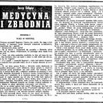 Edigey Jerzy - Medycyna i zbrodnia