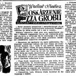 Niewicz Wacław - Oskarżenie zza grobu