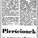 Sekuła Helena - Pierścionek z szesnastoma brylancikami