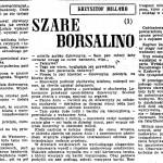 Millard Krzysztof (Sekuła Helena) - Szare Borsalino