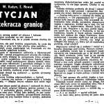 Kodym Wiesław, Nowak E. - Tycjan przekracza granicę