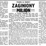 Henelt Paweł Borys - Zaginiony milion