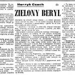 Czech Henryk (Sekuła Helena) - Zielony beryl